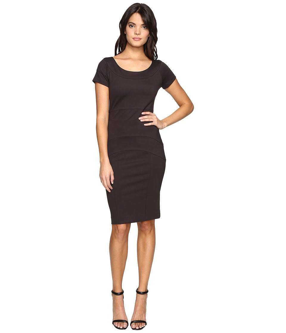 Nicole Miller - Karina Ponte Dress (Dark Charcoal) Womens Dress
