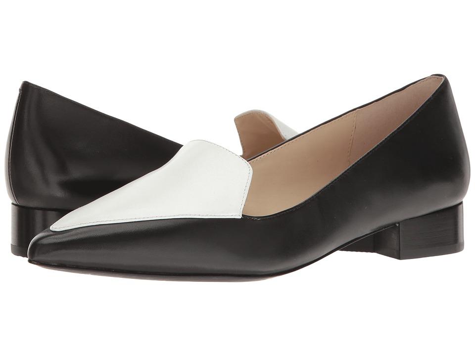 Cole Haan Dellora Skimmer (Black/Black/White Leather) Women