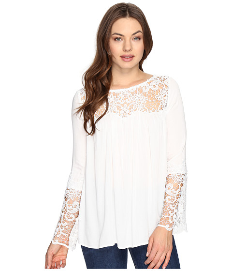 BB Dakota Geraldine Lace Detailed Top - Ivory