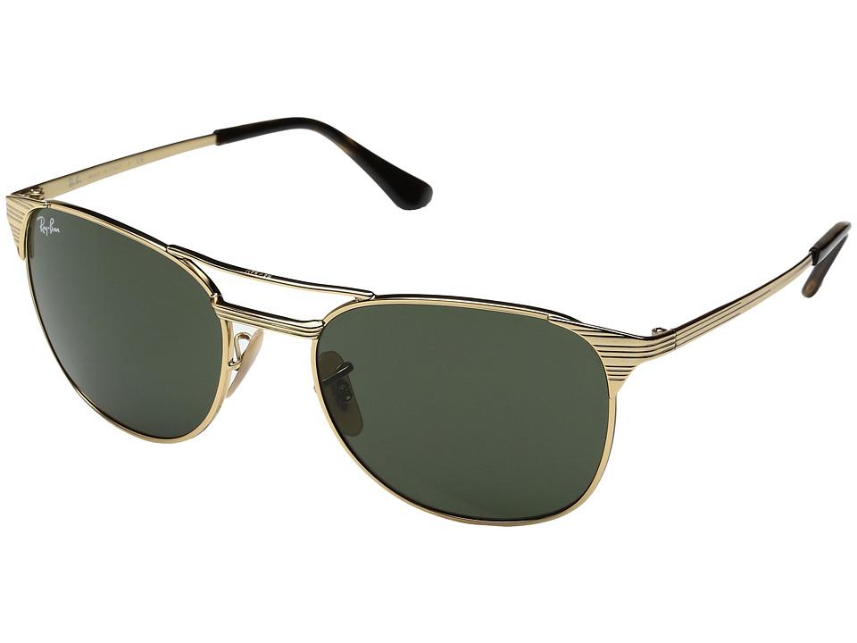 Ray-Ban Signet 0RB3429M 55mm (Gold/Green) Fashion Sunglasses