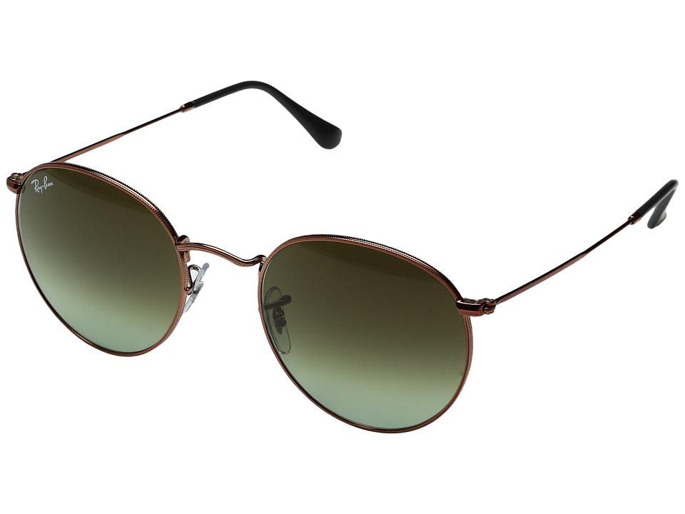 Ray-Ban 0RB3447 Round Metal Classic 53mm (Medium Bronze/Green Gradient) Fashion Sunglasses