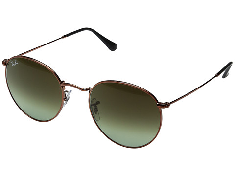 Ray-Ban 0RB3447 Round Metal Classic 53mm - Medium Bronze/Green Gradient