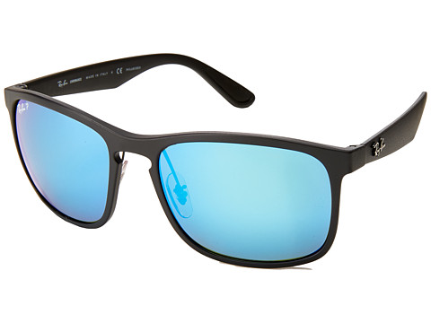 Ray-Ban 0RB4264 Polarized 58mm - Black/Green Mirror