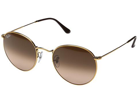 Ray-Ban 0RB3447 Round Metal Classic 53mm - Light Bronze/Pink Gradient