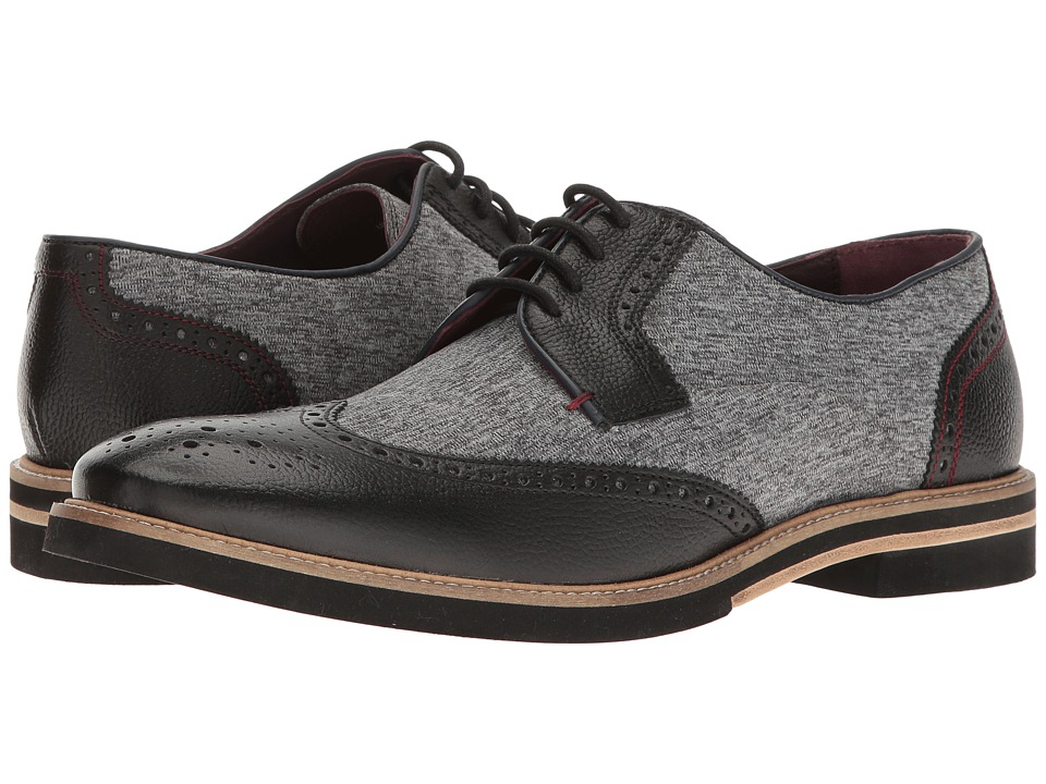 Ted Baker Noiire (Black/Grey Leather) Men