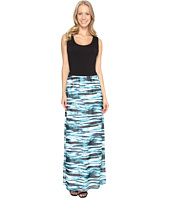 Calvin Klein - Maxi Dress w/ Printed Chiffon