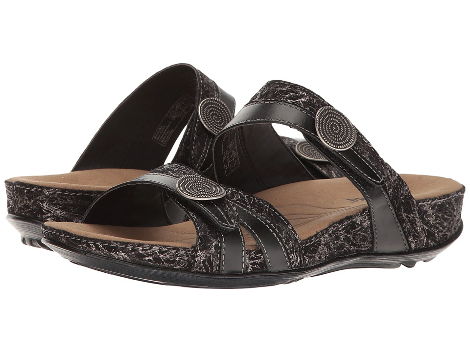 Romika of Germany Fidschi 22 (Black) Women's Sandals