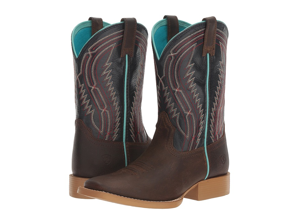 Ariat Kids - Chute Boss (Toddler/Little Kid/Big Kid) (Distressed Brown/Old Blue) Cowboy Boots