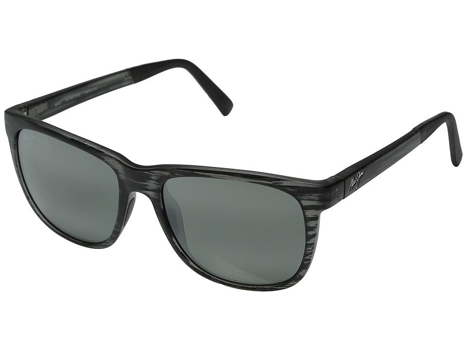 Maui Jim Tail Slide (Matte Grey Stripe) Fashion Sunglasses