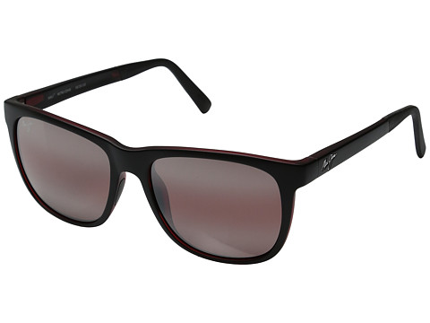 Maui Jim Tail Slide - Matte Black/Red