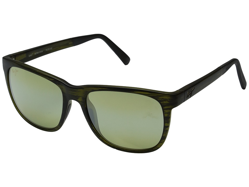 Maui Jim - Tail Slide (Matte Green Stripe) Fashion Sunglasses