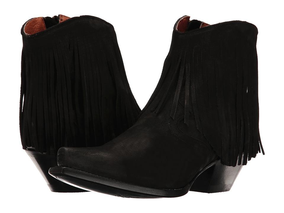 Dan Post Jules (Black Suede) Cowboy Boots