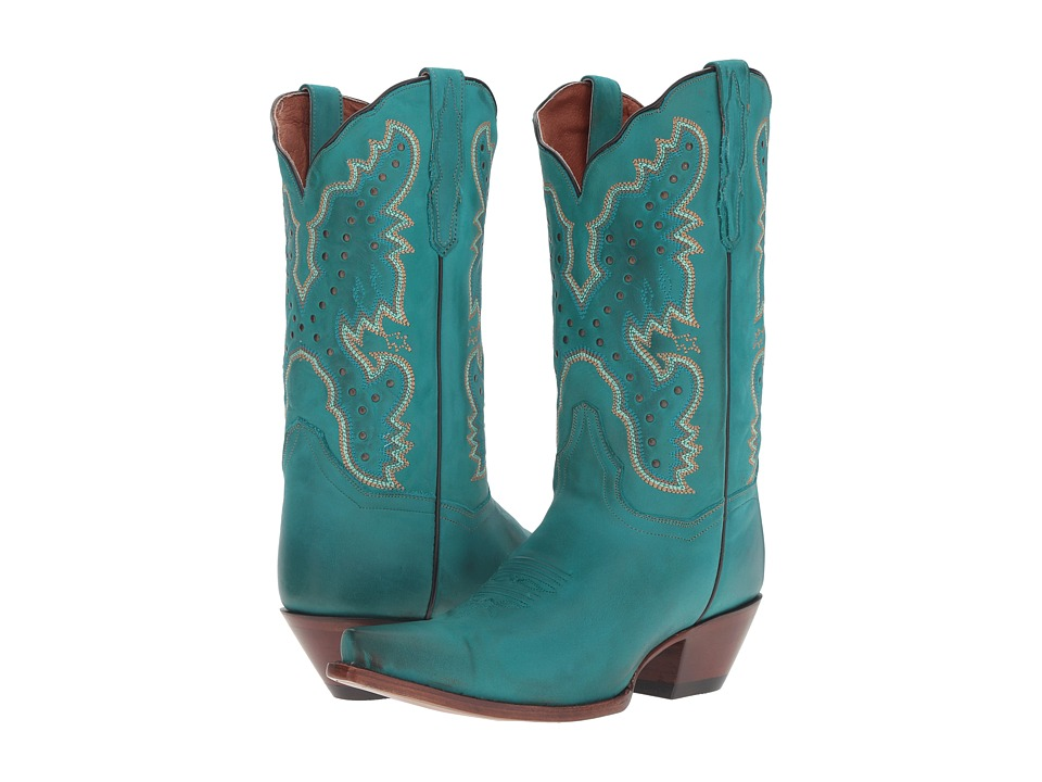 Dan Post Arin (Turquoise/Blue Snip Toe) Cowboy Boots