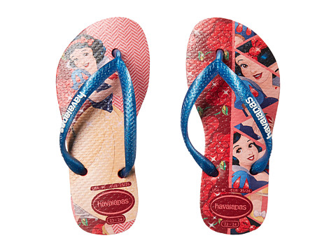 Havaianas Kids Slim Princess Flip Flops (Toddler/Little Kid/Big Kid) - Ruby Red