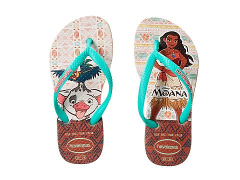 Havaianas Kids Moana Flip Flops (Toddler/Little Kid/Big Kid) - Sand Grey