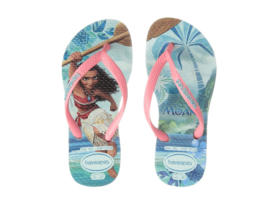 Havaianas Kids Moana Flip Flops (Toddler/Little Kid/Big Kid) (Mentha Green) Girls Shoes