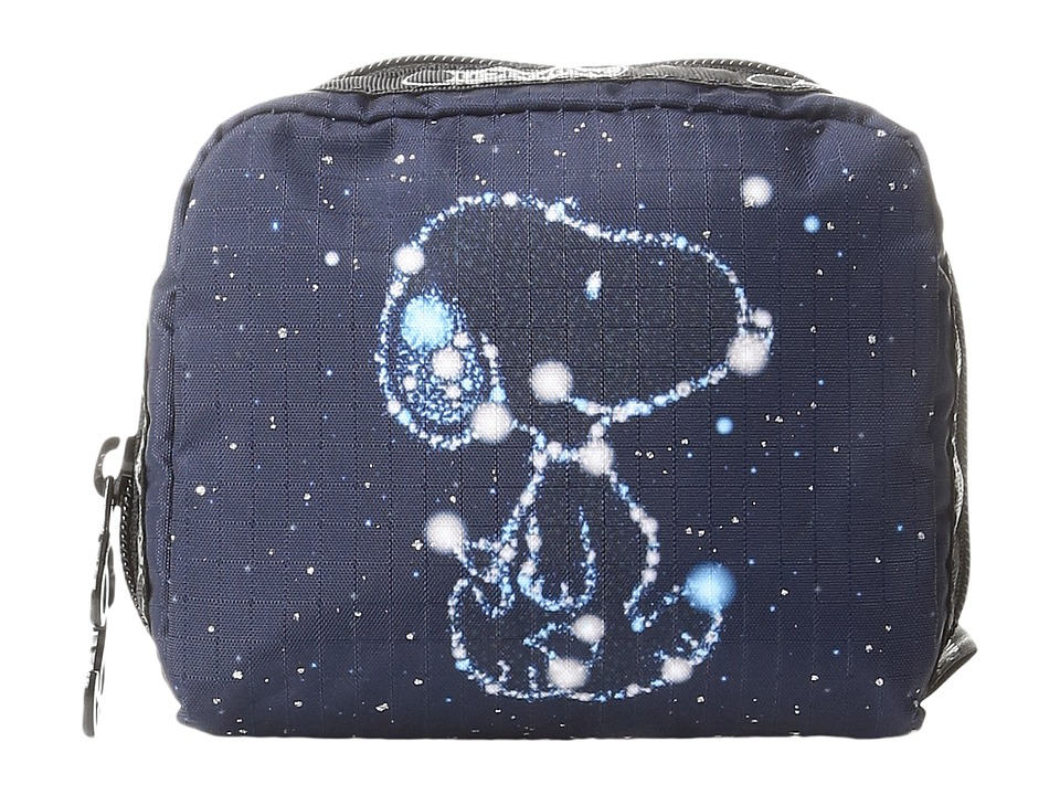 LeSportsac Square Cosmetic (Snoopy Stars Small) Cosmetic Case