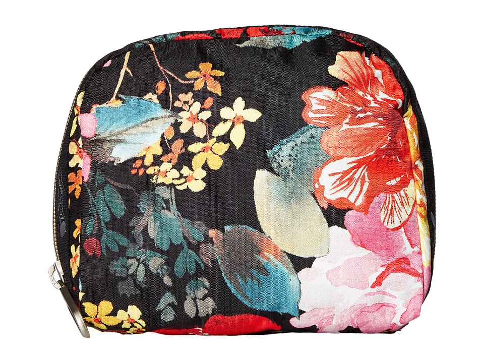 LeSportsac SQ Essential Cosmetic Case (Romantics Black) Cosmetic Case