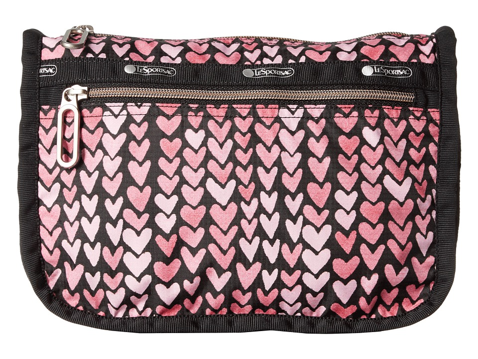 LeSportsac Everyday Cosmetic Case (Painted Hearts Pink) Cosmetic Case