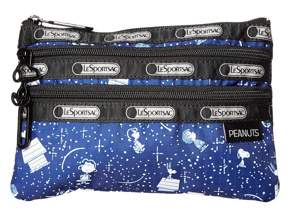 LeSportsac Peanuts 3 Zip Cosmetic (Snoopy Stargazer) Cosmetic Case