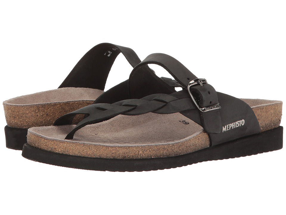 Mephisto - Helen Twist (Black Nubuck) Womens Sandals