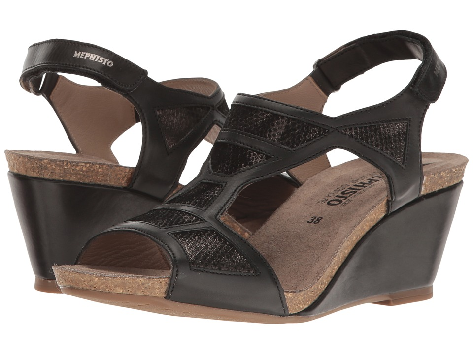 Mephisto Josia (Black Silk/Steel Savana) Women