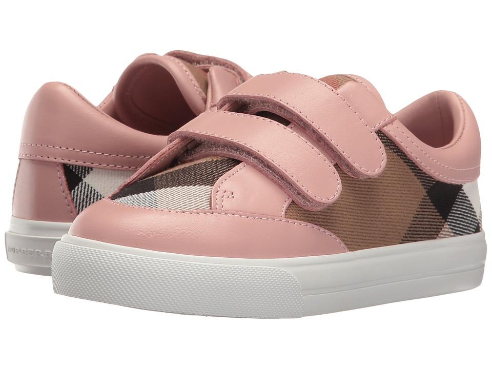 Burberry Kids Mini Heacham Sneaker (Toddler/Little Kid) (Peony Rose Melange) Girl's Shoes