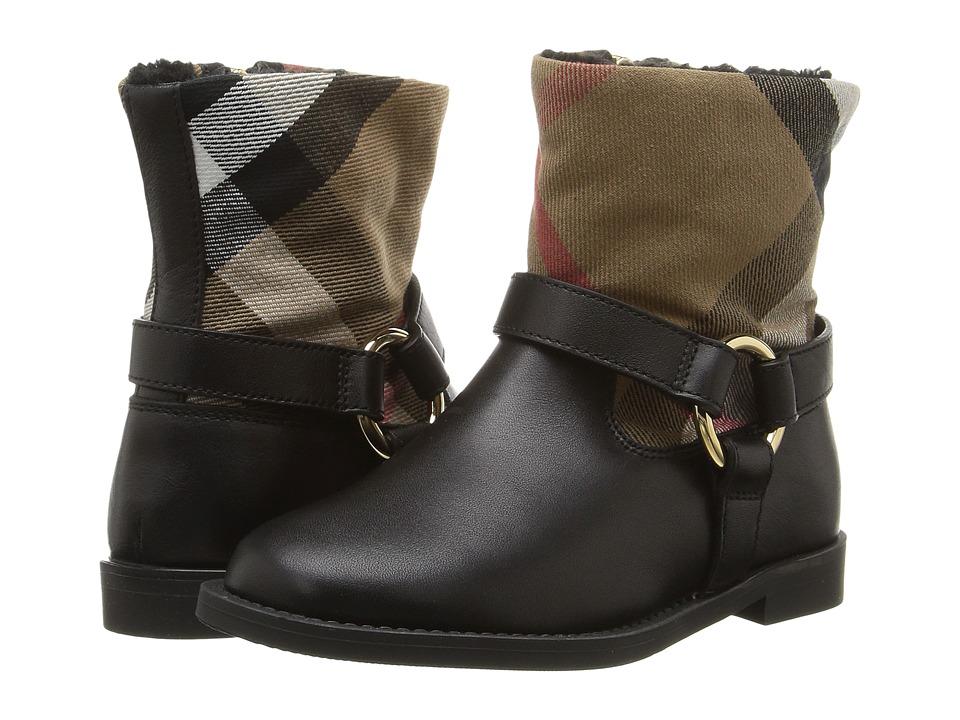 Burberry Kids Queenstead Shoe (Toddler) (Black) Girl's Shoes