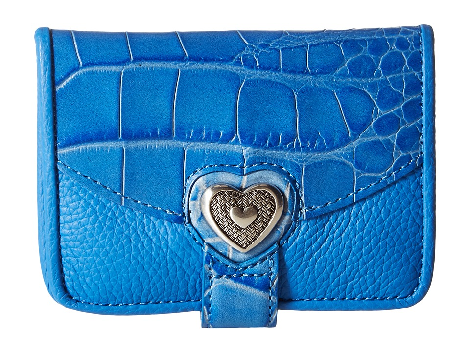 Brighton - Bellisimo Heart Small Wallet (Blue) Wallet Handbags