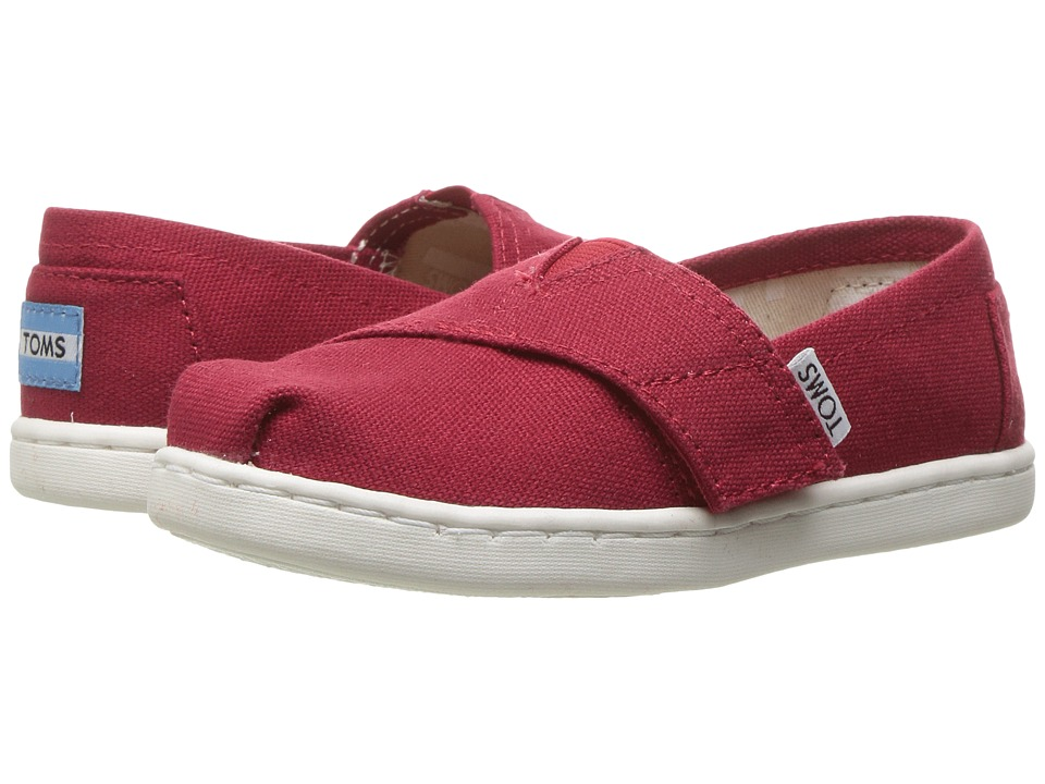 TOMS Kids Alpargata 2.0 (Infant/Toddler/Little Kid) (Red Canvas) Kid's Shoes