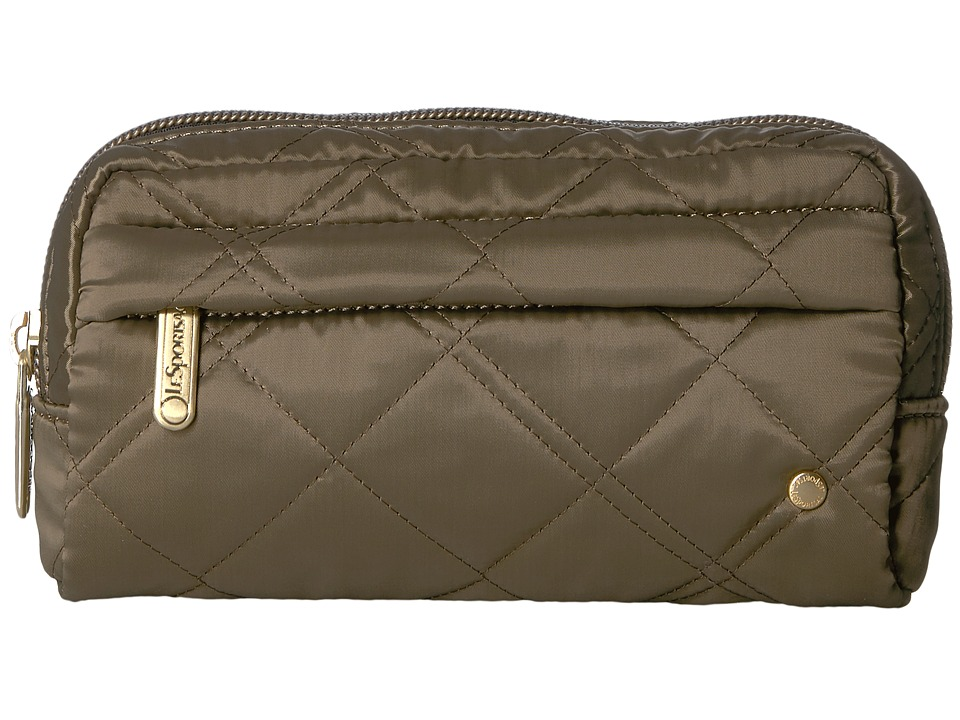 LeSportsac City Central Cosmetic (Metallic Bronze Quilted) Cosmetic Case