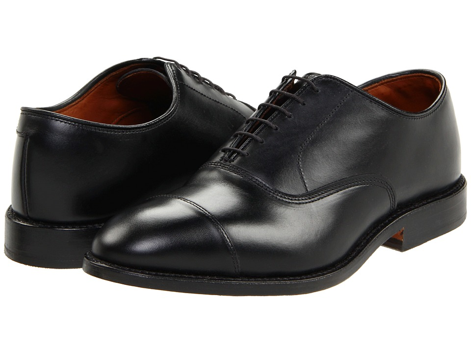 Allen Edmonds Park Avenue Black Custom Calf Mens Lace Up Cap Toe Shoes