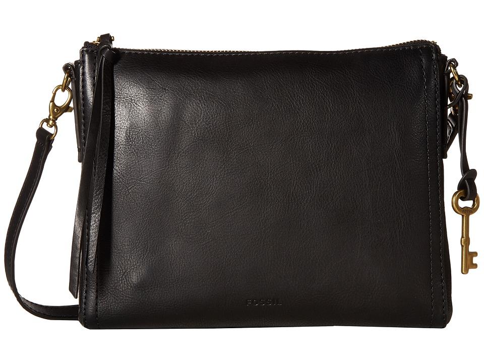 Fossil - Emma East/West Crossbody (Black) Cross Body Handbags