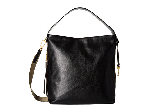 Fossil Maya Large Hobo - Black