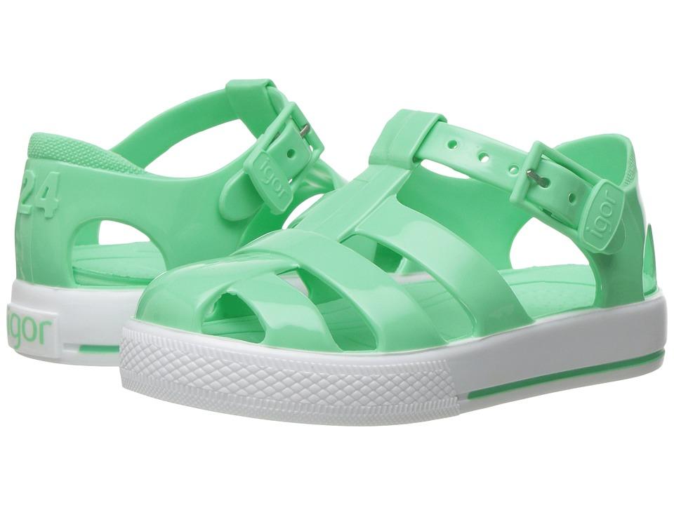 Igor Tenis Solid (Toddler/Little Kid) (Aquamarine) Girl's Shoes
