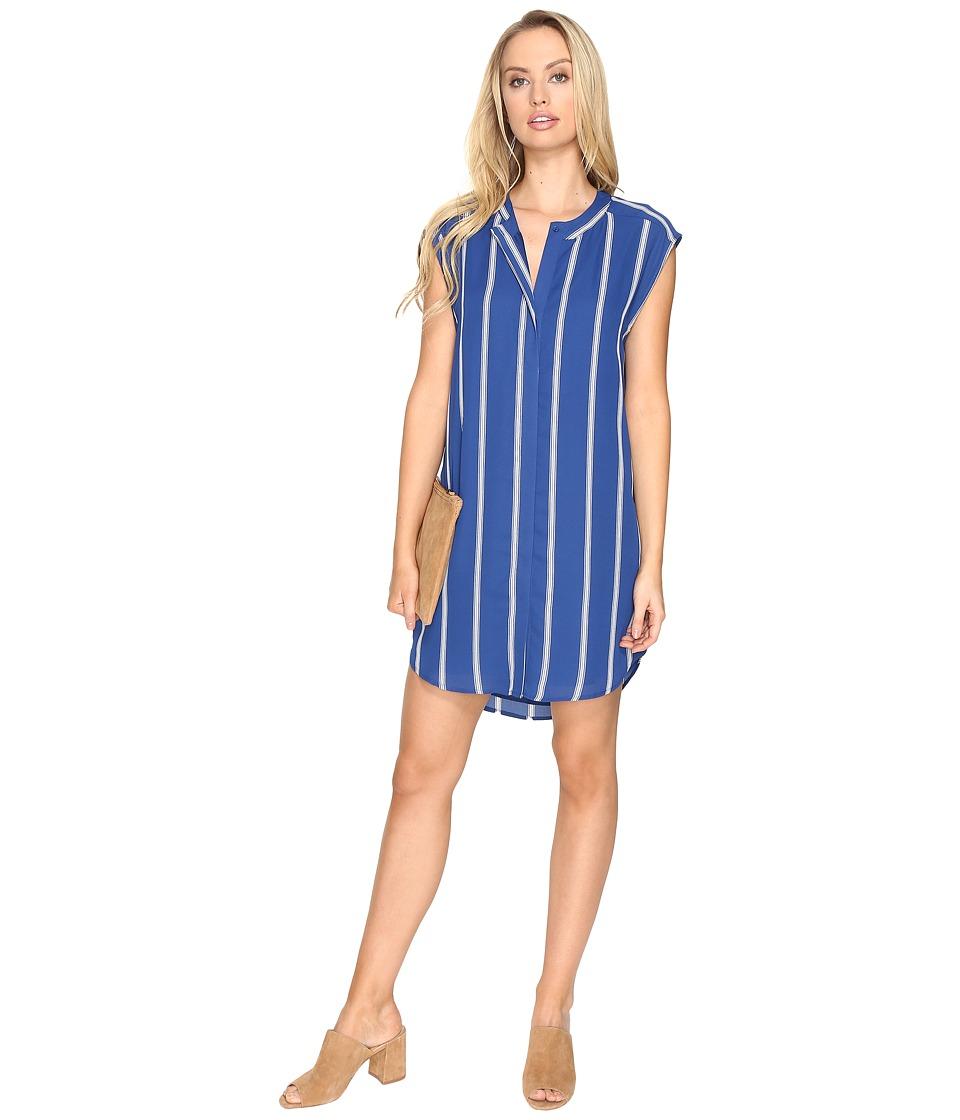BB Dakota Zea Virtical Stripe Dress (Indigo) Women