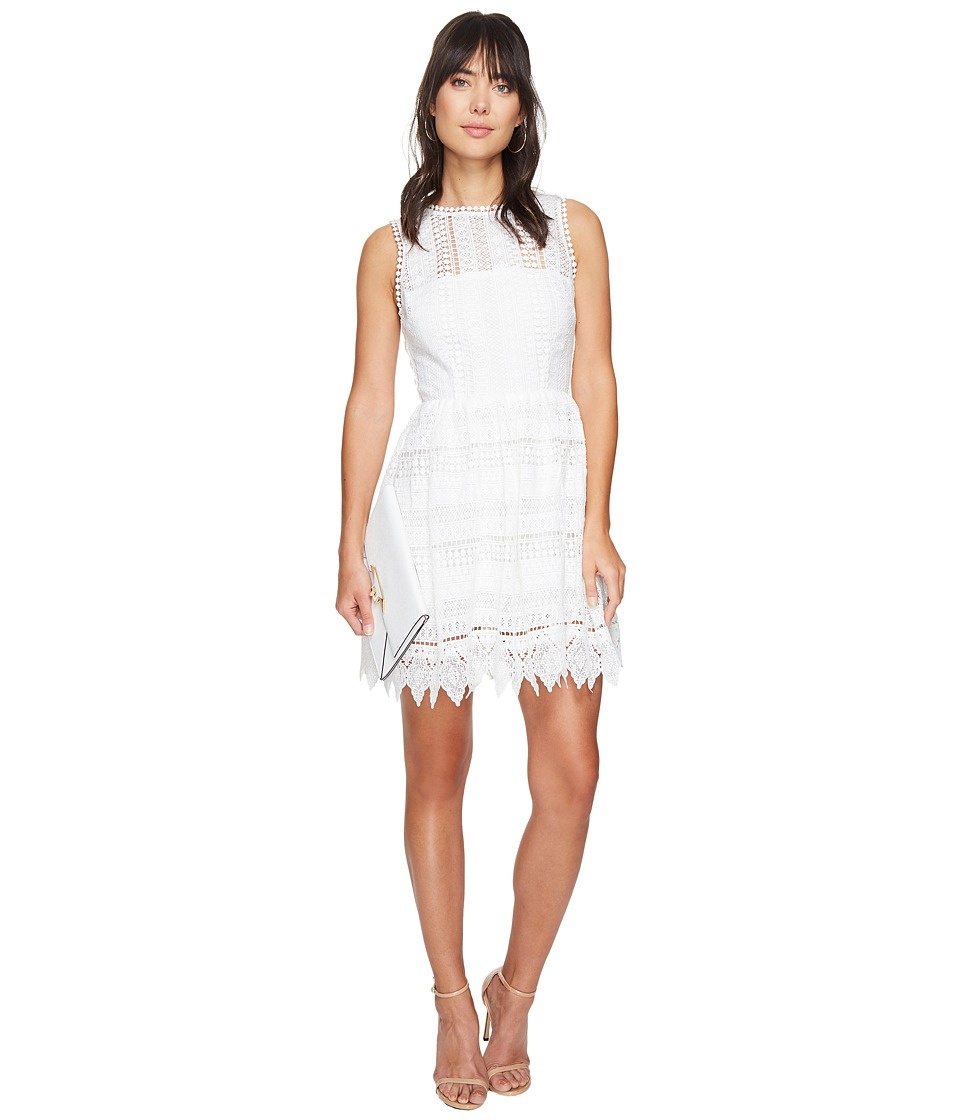 BB Dakota Elissa Lace Fit N Flare Dress (Ivory) Women