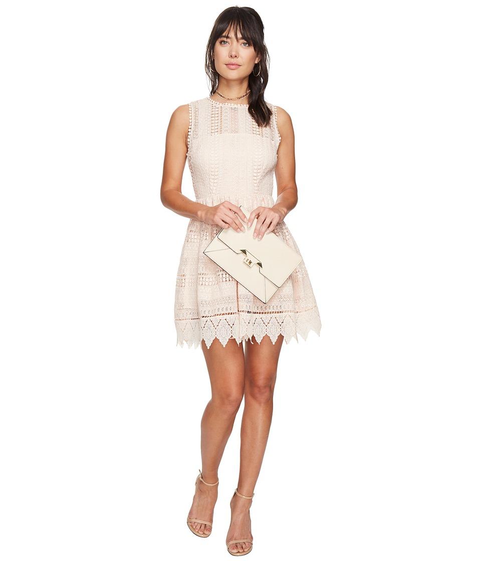 BB Dakota Elissa Lace Fit N Flare Dress (Peach Blossom) Women