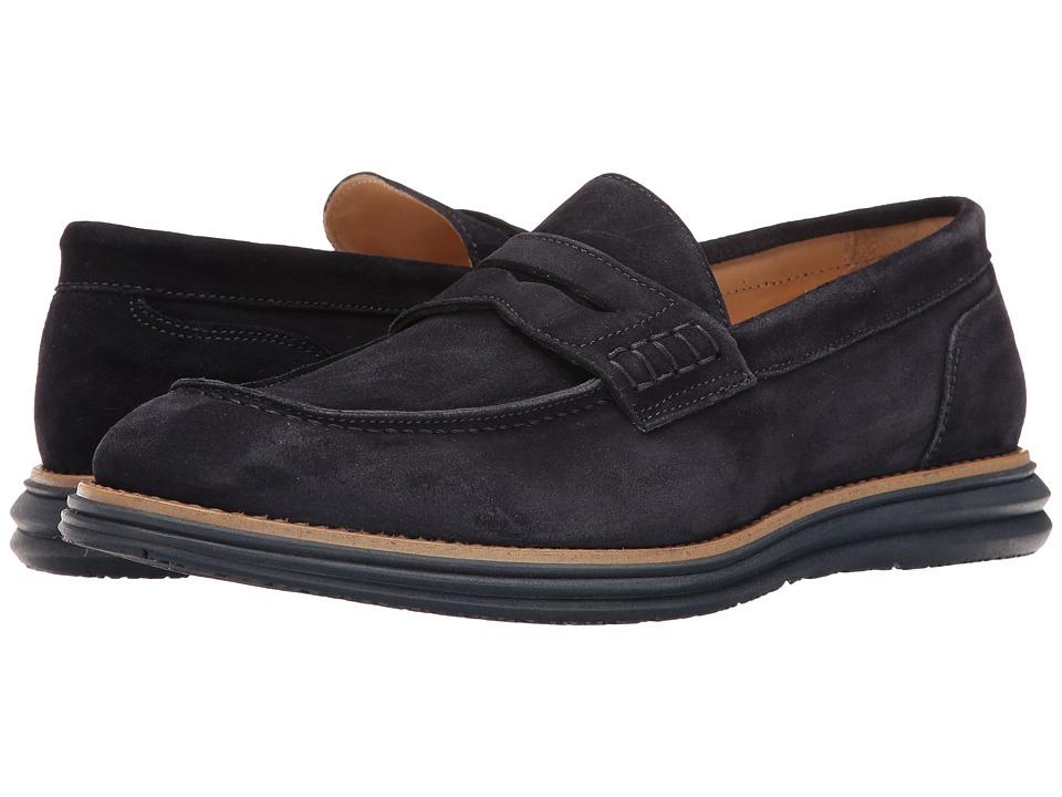 Bugatchi Lecce Loafer (Blue) Men's Shoes