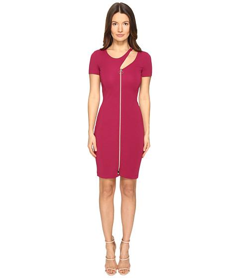 Versace Jeans Short Sleeve Zip Front Cut Out Dress