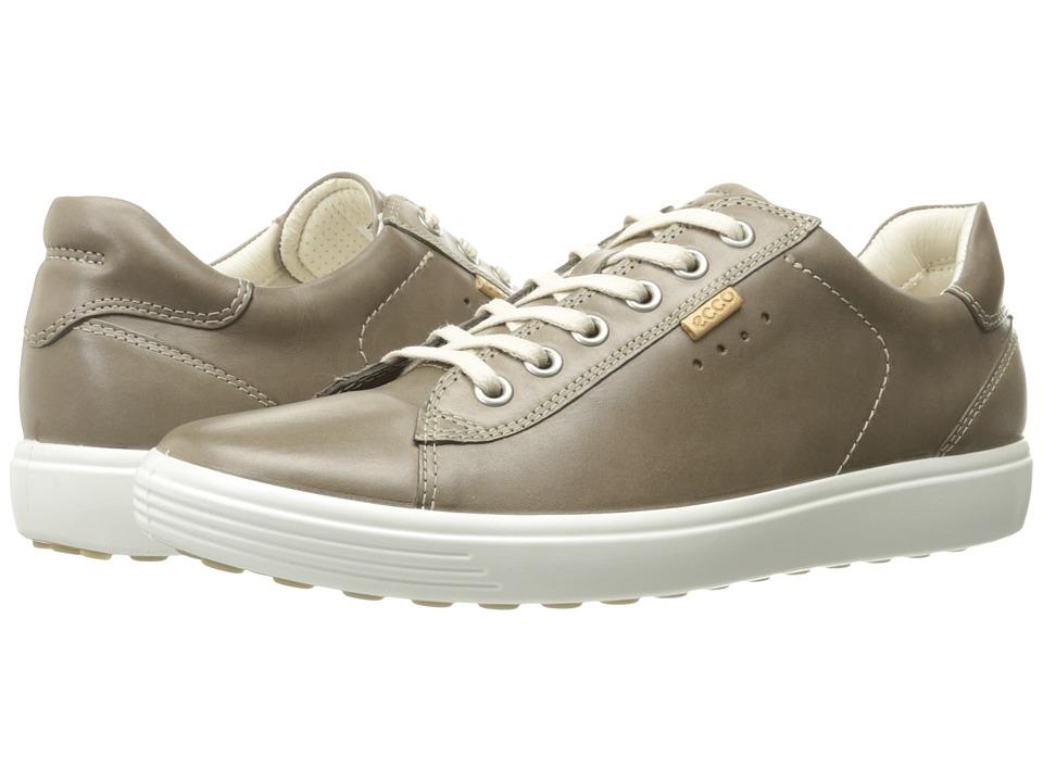 ECCO Soft Sneaker (Warm Grey Cow Nubuck)