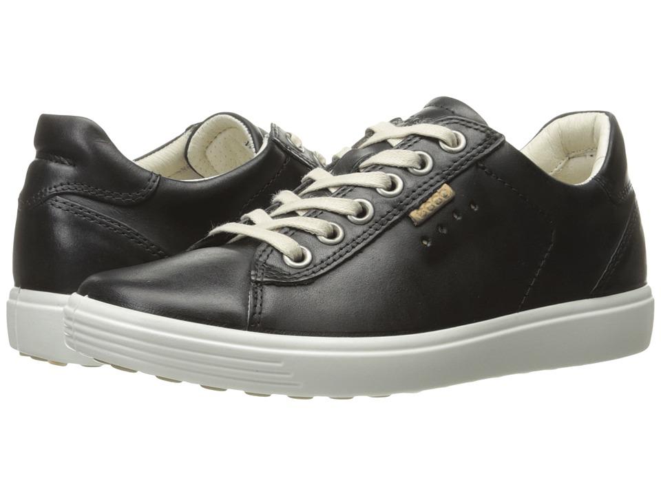 ECCO Soft Sneaker (Black Cow Nubuck)