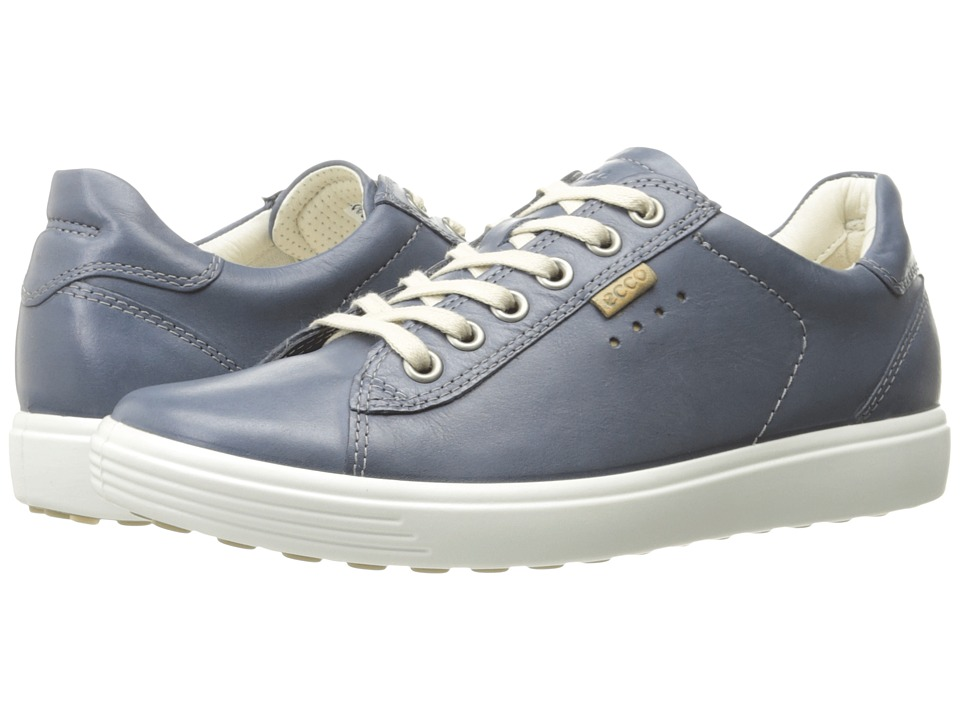 ECCO Soft Sneaker (Marine Cow Nubuck)