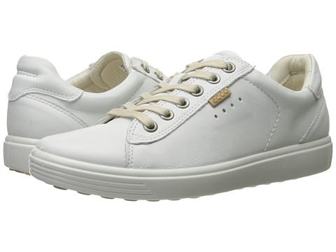 ECCO Soft Sneaker - White Cow Leather/Cow Nubuck