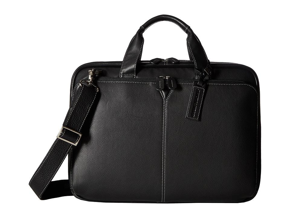 Johnston & Murphy Laptop Briefcase (Black) Briefcase Bags
