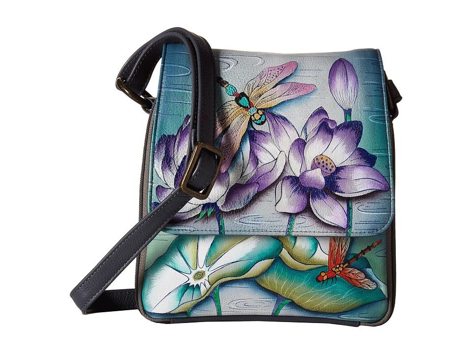 Anuschka Handbags - 483 Triple Compartment Crossbody Organizer