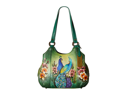 Anuschka Handbags 469 Triple Compartment Medium Satchel