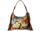 Anuschka Handbags Anuschka Handbags 586 Fringe Shoulder Hobo