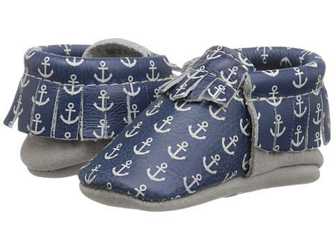 Freshly Picked Soft Sole Moccasins (Infant/Toddler) - Anchors Aweigh