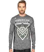 American Fighter - Kendrick Topographic Long Sleeve Panel Crew